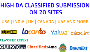 I will Post Ad on Top 20 High DA Classified Sites