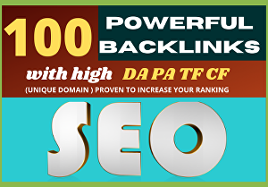 I will Increase  100 Unique Domain High Authority backlinks