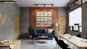 I will Design interior with Modern or Industrial Style