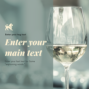 I will edit and put your text or photo in glass of wine