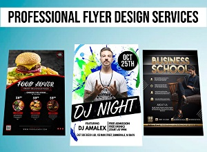 I will design professional flyer, brochure and poster design