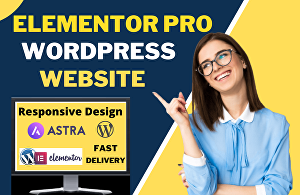 I will design a responsive wordpress website with elementor pro and Astra pro
