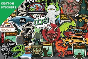 I will create custom sticker design with commercial use