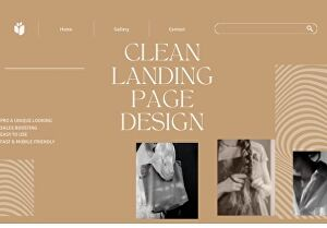 I will create a modern and professional landing page design