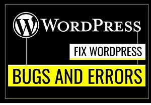 I will fix wordpress bugs and errors accurately