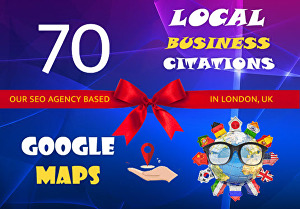I will create 70 top local citations