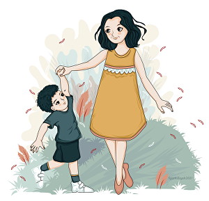 I will create children book illustration and cover in vector