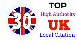 I will Do TOP 30 UK Google Map Citations for Local SEO