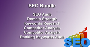 I will do SEO bundle  - SEO Audit, Ranking Audit, Keywords Research, Competitor Analysis, Domain