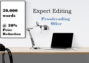 I will proofread  up to 20,000 words of your creative writing, or business documents and website