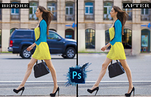 I will remove a person or object from a picture with photoshop