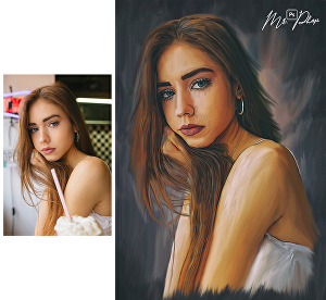 I will draw portraits into oil paintings from photos