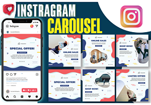 I will design professional instagram post, ads and banner