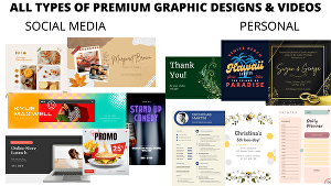 I will do all types of premium quality graphic designing
