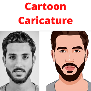 I will create cartoon caricature for you