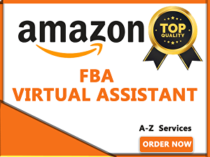 I will be your amazon virtual assistant expert fba listing ppc VA