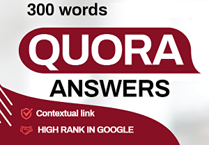 I will provide 300 words  in 5 unique Quora Answers with contextual link