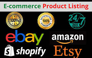 I will list your products on amazon, ebay, etsy, shopify