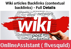 I will create High Authority Wikipedia Backlink For Your Website mix profile and articles backlin
