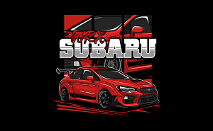 I will draw vector cartoon car illustration for your t shirt