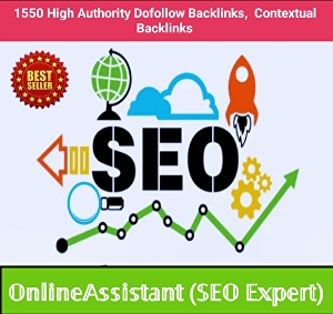 I will build 1550 high authority dofollow backlinks, contextual links with indexing and detailed