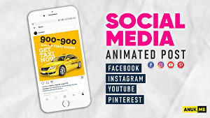 I will make animated posts, gifs, flyers for social media