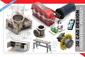 I will do 3d cad model, mechanical design and engineering products