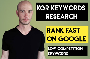 I will do kgr keyword research for your website or Amazon affiliate site