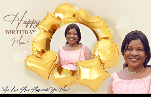 I will Put your  pictures on birthday frame