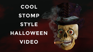 I will place your logo into this cool Halloween stomp style video