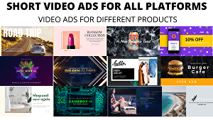 I will create scroll stopping video ads for all platforms