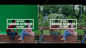 I will do advanced chroma key or green screen compositing