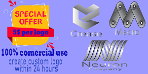 I will create a cool logo for you within 24hours