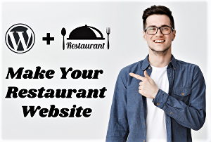 I will create and design wordpress restaurant website with an online food order system