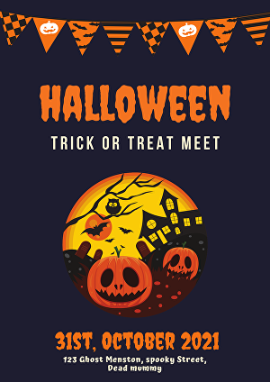 I will Design 2 printable Posters, Menus, Invitations for your Halloween