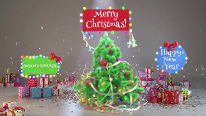 I will make stunning christmas greeting video with your logo