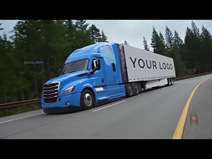 I will place your logo on a truck video