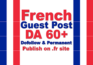 I will write and publish french guest post SEO backlinks