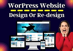 I will design or redesign your website with WordPress
