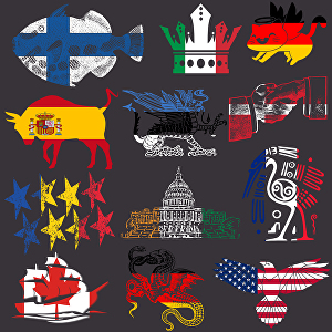 I will design 25 creative flags in a shape of your choice