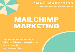 I will render MailChimp email marketing campaign