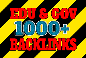 I will create 1000 backlinks with strong DA GOV and EDU