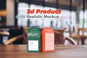I will do professional 3d product realistic mockup