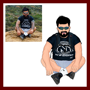 I will create cartoon caricature of your photo