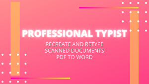 I will do documents formatting, retype scanned pages, and typing job