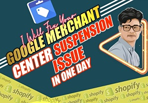 I will fix google merchant center suspension, misrepresentation issues, and reapprove