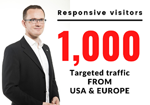 I will promote and drive targeted traffic from the USA and Europe