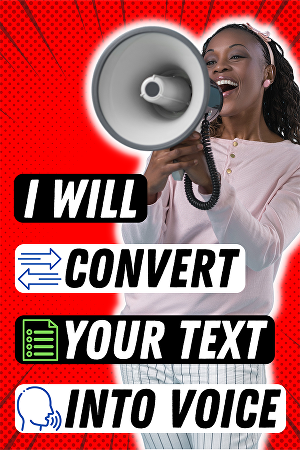I will create text to speech in real human voice