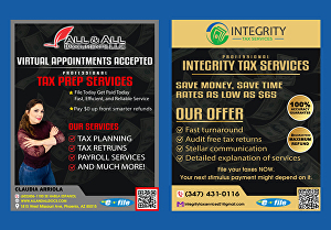 I will design professional tax flyer, credit flyer for your business