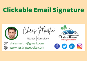 I will create HTML email signatures or clickable email signatures for you